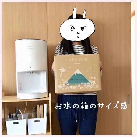 フレシャスデュオミニの水の箱のサイズ感