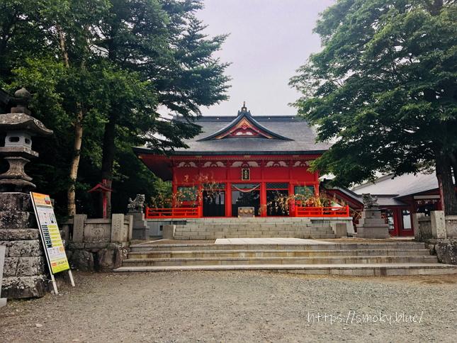 赤城神社の拝殿