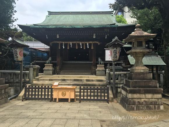 五條天神社の拝殿