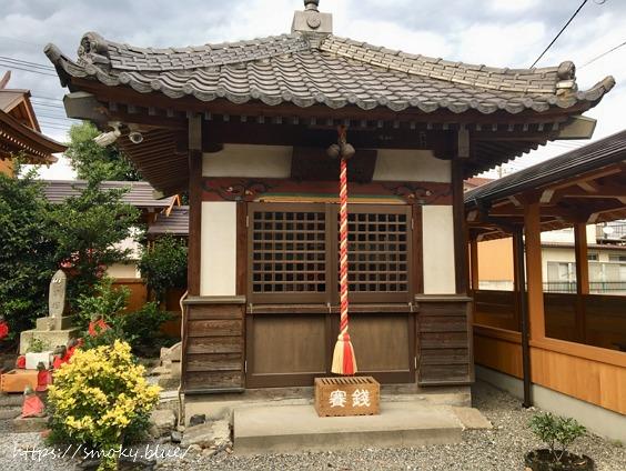 於菊稲荷神社の太子堂