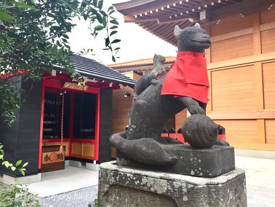 於菊稲荷神社の狛狐