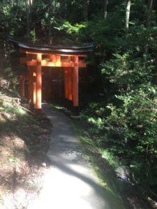 清瀧社への道にある鳥居