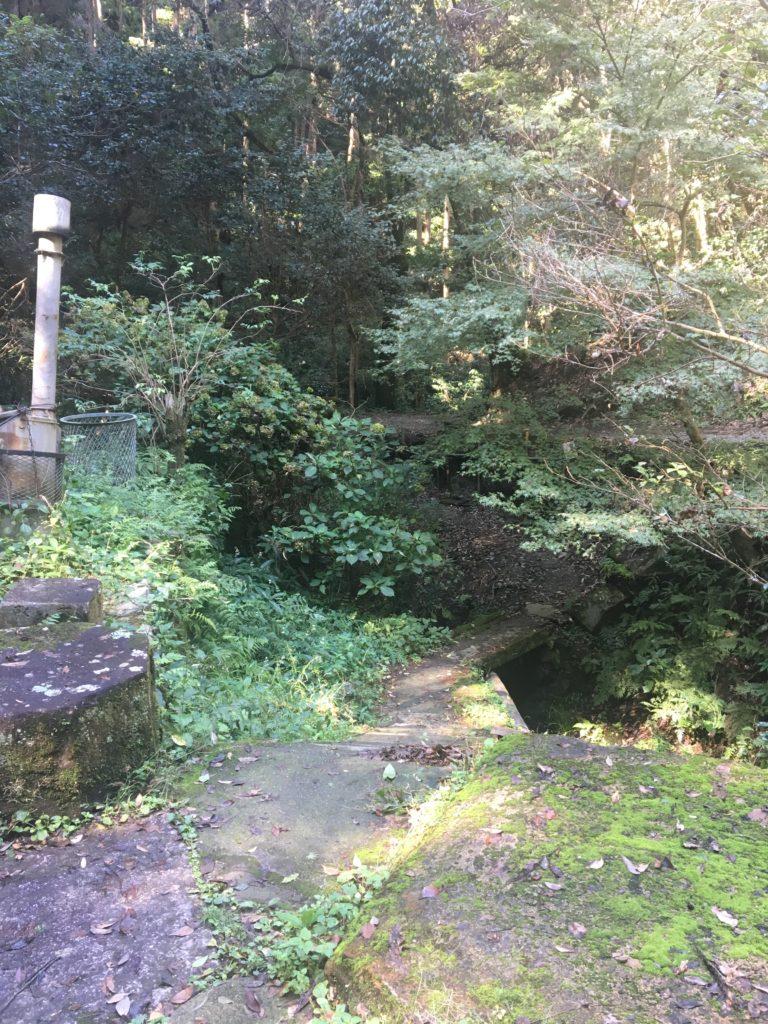 清滝社の更に奥へ続く道
